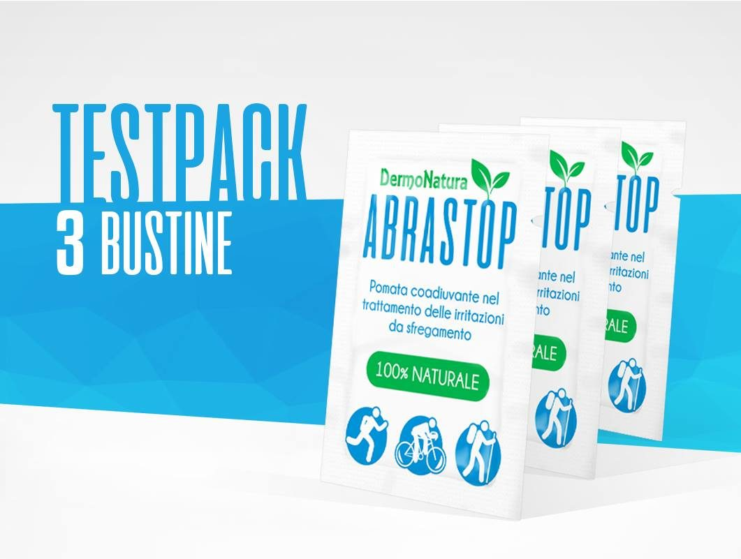 Pomata ABRASTOP • Kit di prova da 3 bustine